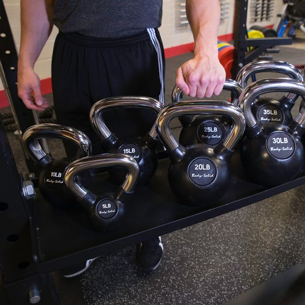 Body Solid Hexagon Pro Functional Training Rig System Kettlebell Tray