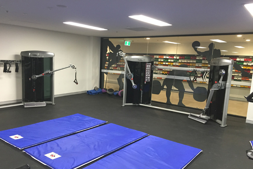fitness gym fitout