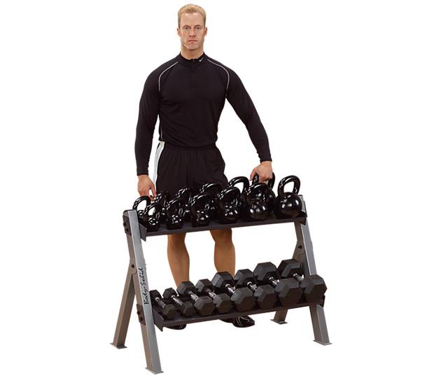 Body Solid Dumbbell/ Kettle Bell Rack