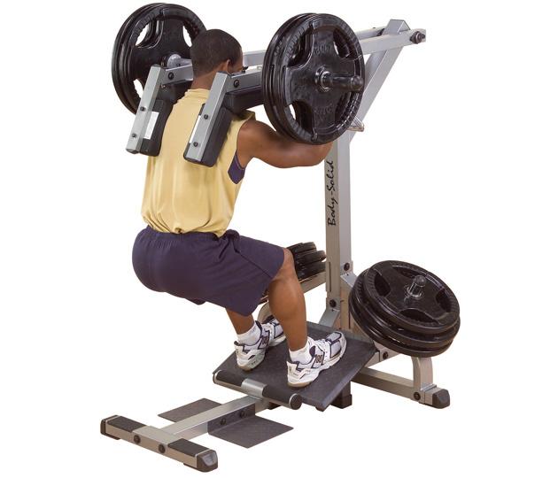 Body Solid Plate Loaded Leverage Squat-Calf Raise Machine